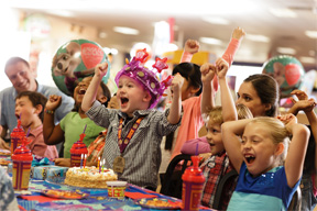 Have your birthday at Chuck E. Cheese's!